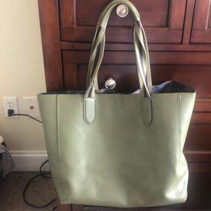 Hunter Green Coach Tote Bag